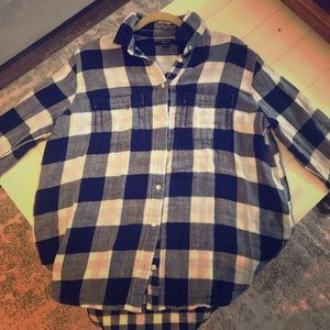 Madewell Gingham Flannel Size M